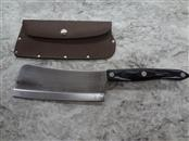 CUTCO #1737 CLEAVER WITH LEATHER SHEATH - HIGH CARBON STAINLESS BLADE